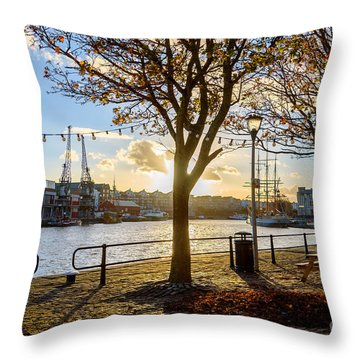 Bristol Harbour Throw Pillow
