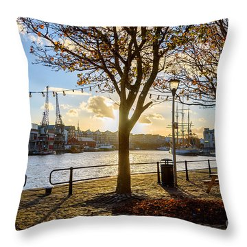 Throw Pillow featuring the photograph Bristol Harbour by Colin Rayner