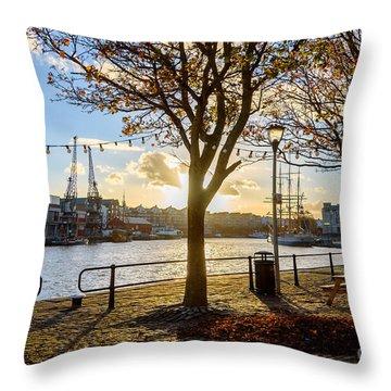 Bristol Harbour Throw Pillow