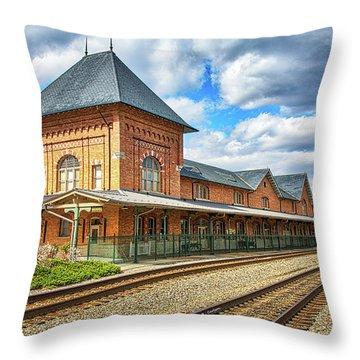 Bristol Train Station Throw Pillow