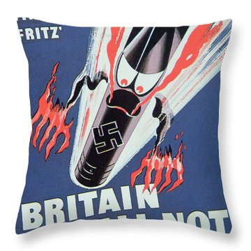 Britain Shall Not Burn Throw Pillow by English School