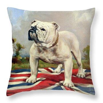 British Bulldog Throw Pillow by English School