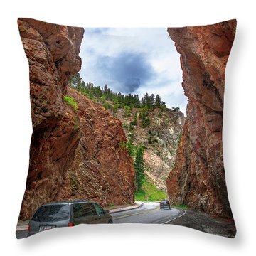 British Columbia Highway 93, Radium Hot Springs Throw Pillow