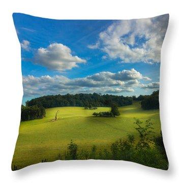 British Countryside Throw Pillow