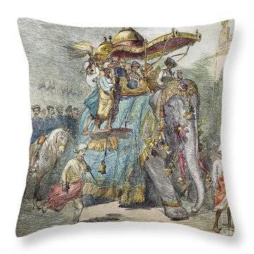 British In India, 1875 Throw Pillow