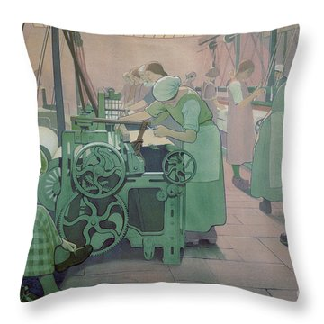 British Industries - Cotton Throw Pillow by Frederick Cayley Robinson