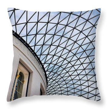 British Museum Throw Pillow by James David Phenicie