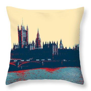 British Parliament Throw Pillow