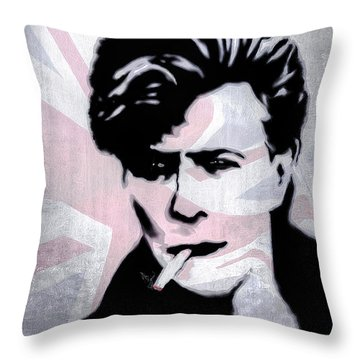 British Rock Throw Pillow