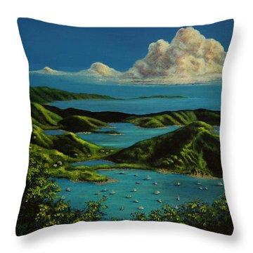 British Virgin Islands Throw Pillow by Laurie Tietjen