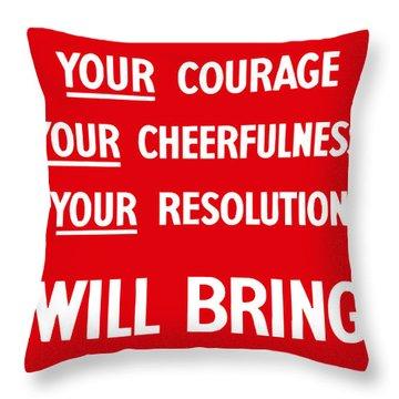 British Ww2 Propaganda Throw Pillow