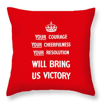 British Ww2 Propaganda Throw Pillow