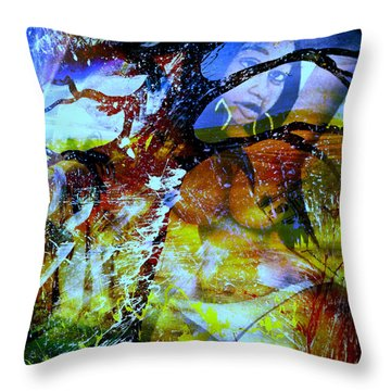 Britney Throw Pillow by Fania Simon