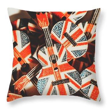 Britpop Nostalgia Throw Pillow