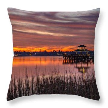 Brittlebank Park Dock Charleston Sc Throw Pillow