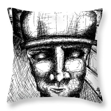 Brixx Bw Throw Pillow by Jera Sky