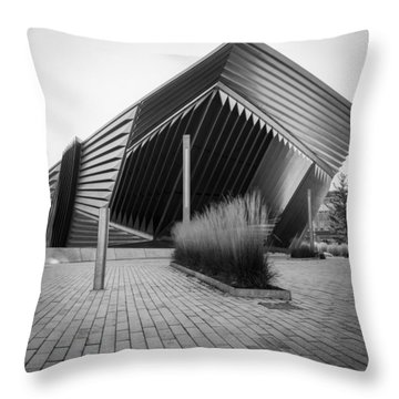 Throw Pillow featuring the photograph Broad Art Museum by Larry Carr