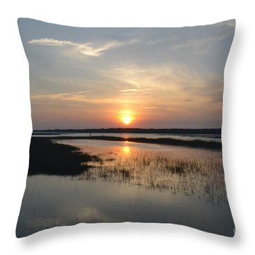 Throw Pillow featuring the photograph Broad Creek Sunset by Carol  Bradley