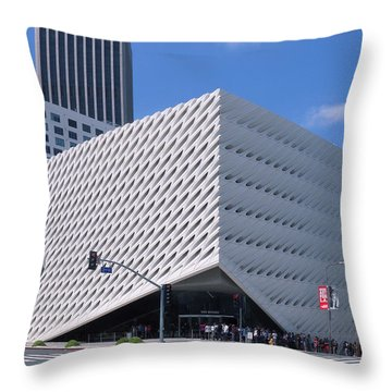 Throw Pillow featuring the photograph Broad Museum Los Angeles by Ram Vasudev
