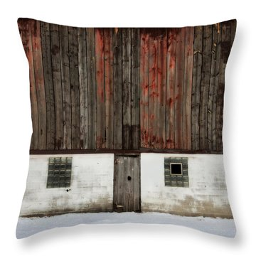 Broad Side Of A Barn Throw Pillow by Julie Hamilton