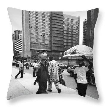 Broad Street -- Fmbn Throw Pillow