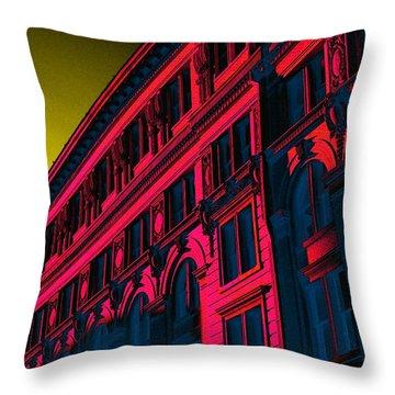 Broadway 118 In Fuschia Throw Pillow by Edgar Farrera