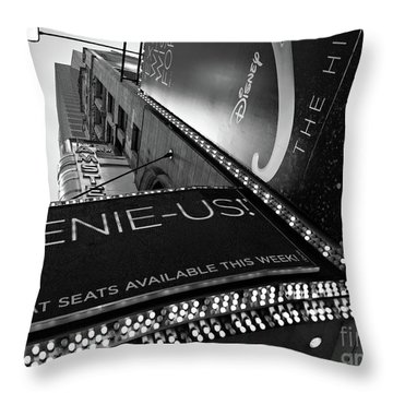 Throw Pillow featuring the photograph Broadway  -27868-bw by John Bald