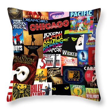 Broadway 3 Throw Pillow