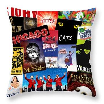 Broadway 8 Throw Pillow