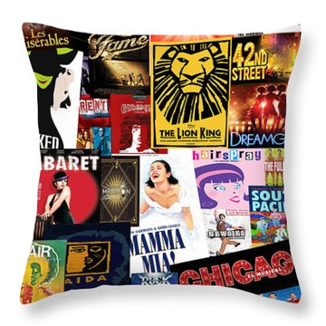 Broadway 9 Throw Pillow