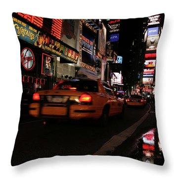 Broadway Lights Throw Pillow by Karol Livote