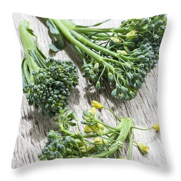 Broccoli Florets Throw Pillow