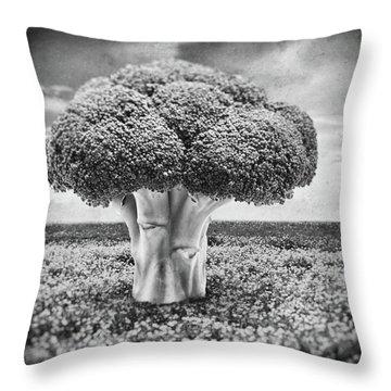 Broccoli Tree Throw Pillow by Wim Lanclus