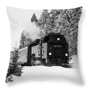 Brockenbahn, Harz Throw Pillow