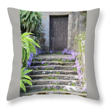 Brodick Castle The Old Door Throw Pillow