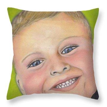 Brody's Smile Throw Pillow