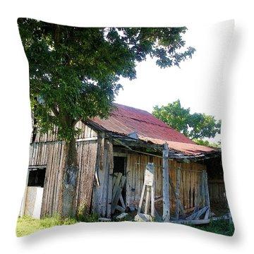 Brokedown Barn Throw Pillow