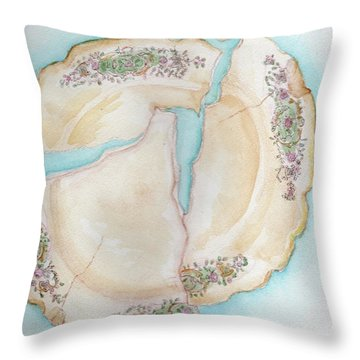 Broken 1 Throw Pillow