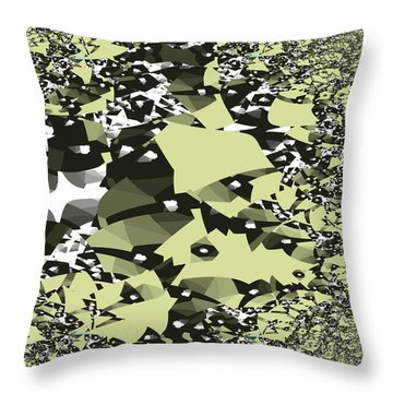 Broken Abstract Throw Pillow by Jessica Wright