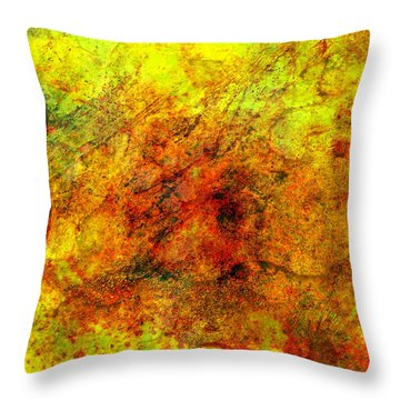 Broken Throw Pillow by Ally  White