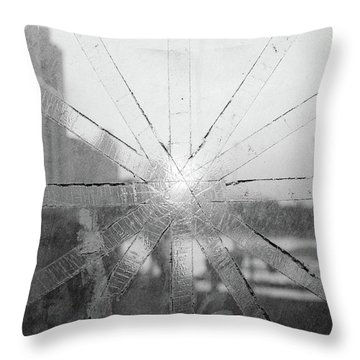 Broken Bangkok Sunset Throw Pillow