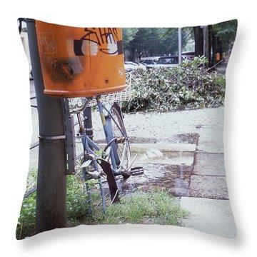 Broken Bike In Berlin Throw Pillow