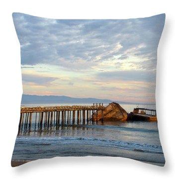 Broken Boat, Ss Palo Alto Throw Pillow