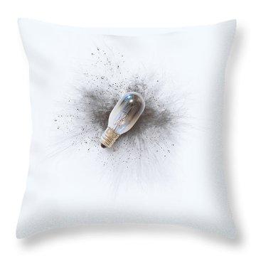 Broken Bulb Throw Pillow