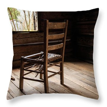 Broken Chair Throw Pillow