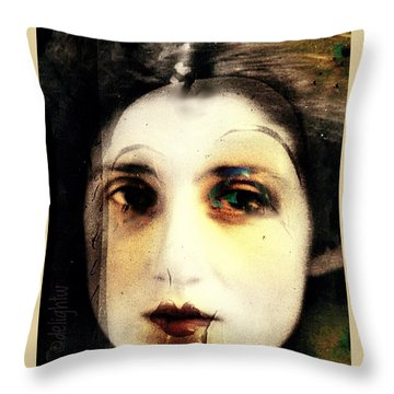 Throw Pillow featuring the digital art Broken by Delight Worthyn