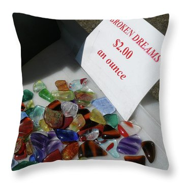 Broken Dreams For Sale Throw Pillow