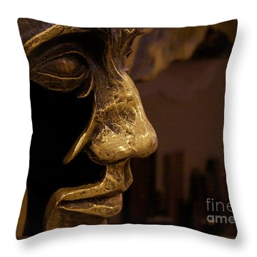 Broken Face Throw Pillow by Xn Tyler