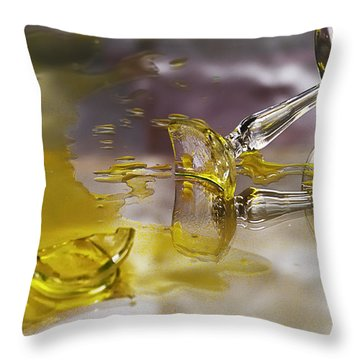 Throw Pillow featuring the photograph Broken Glass by Susan Capuano