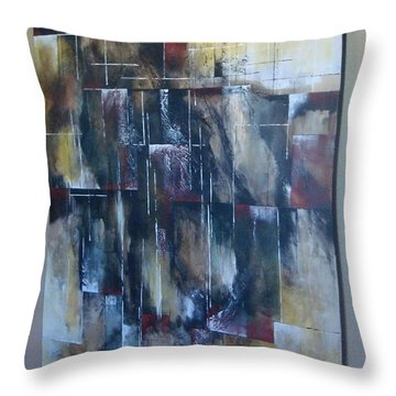 Throw Pillow featuring the painting Broken Glass by Tamara Bettencourt